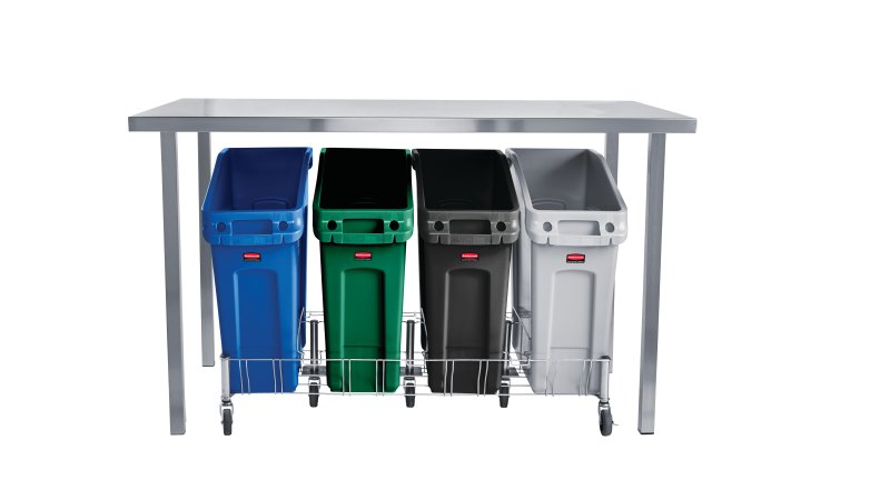 13-Gal Trash Bin Color Beige