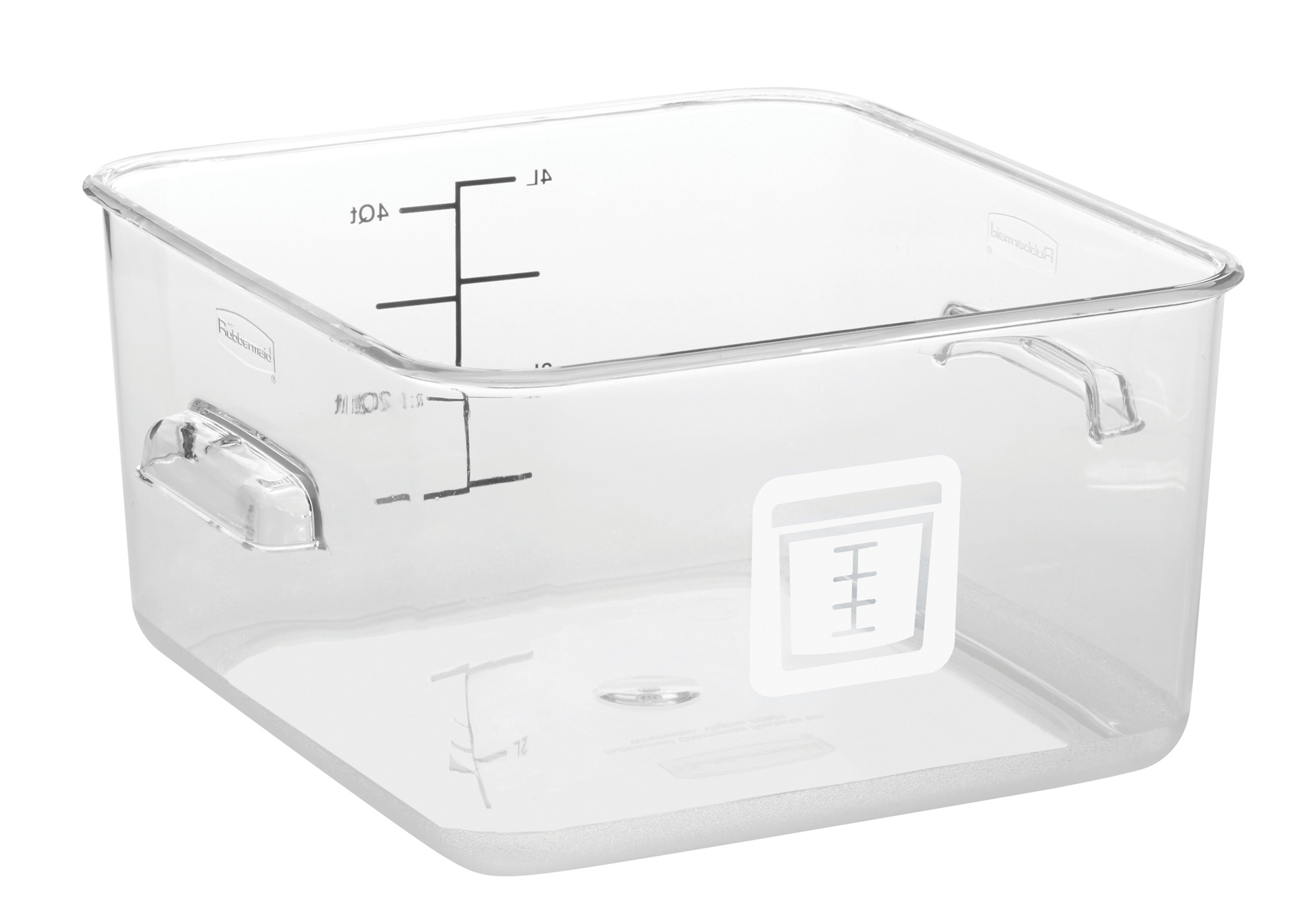 Rubbermaid 1980313Color Coded Food Storage Container Square 4 Quart