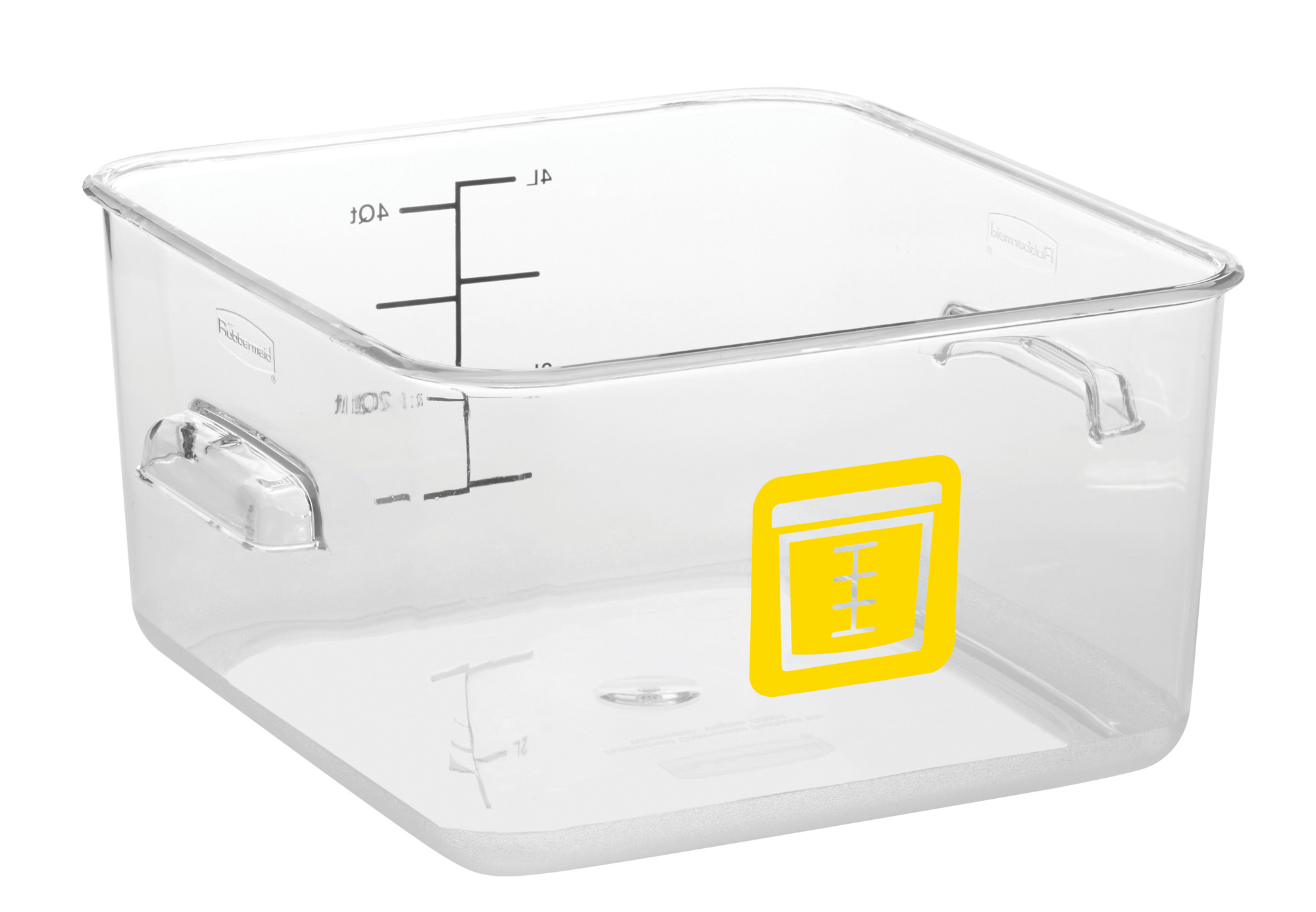 Rubbermaid 1980234 Color Coded Food Storage Container Square 4 Quart