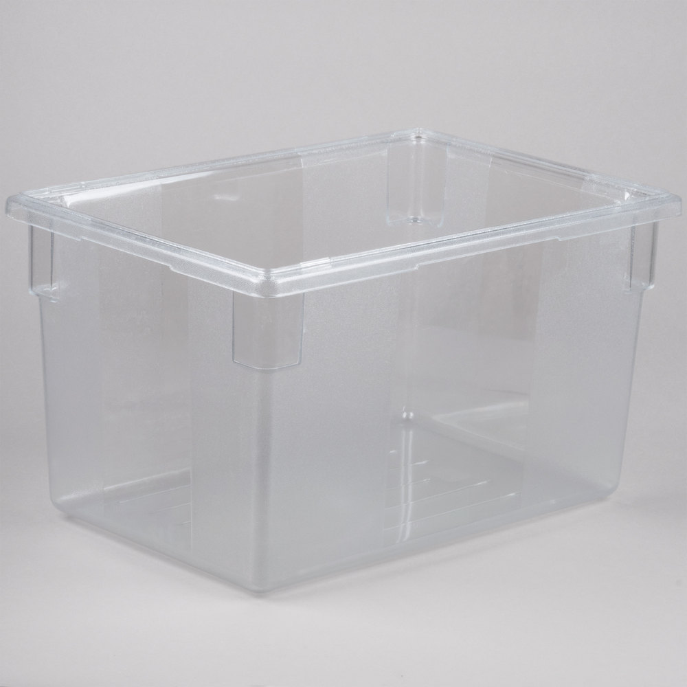 Rubbermaid FG3301 Food Tote Box Clear