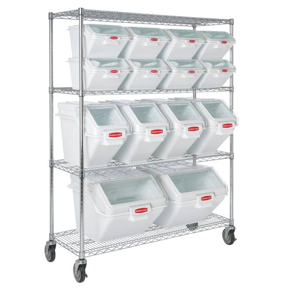 9g80 Mobile Rack For Prosave Shelf Ingredient Bins 50 Quot W