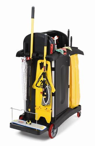 Rubbermaid 9t75 High Security Janitor Cart