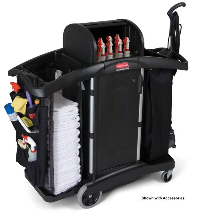 Rubbermaid Executive Series 9t78 High Security Janitor Cart