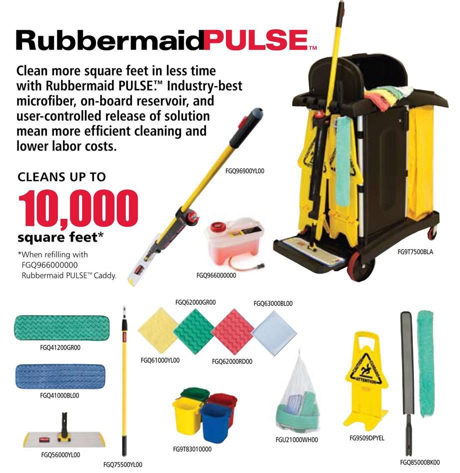 Rubbermaid 1784285 Hygen Microfiber Kit With Pulse Mopping Kit