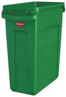 View: 16 Gallon Slim Jim Waste Container w/ Venting Channels Pack of 4