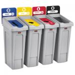 View: 2007919 SLIM JIM® RECYCLING STATION 4 STREAM LANDFILL/PAPER/PLASTIC/CANS