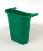 View: 12 Pack 2950-73 Wastebasket Recycling Side Bin Color: Green - COPY