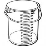 View: 5729-24 Round Storage Container with Bail Pack of 6