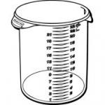 View: 5728-24 Round Storage Container Pack of 6
