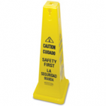 "View: Pack of 3 6276-87 Safety Cone 36"" (91.4 cm) with Multi-Lingual ""Caution, Safety First"" Imprint"