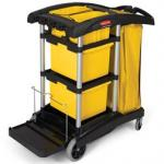 View: Rubbermaid 9T73 Hygen Microfiber Janitor Cleaning Cart