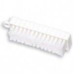 View: 8 Pack 9B58 White Plastic Hand and Nail Brush, Polypropylene Bristles