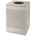 View: SC22 Silouhettes Open Top Receptacle Square Color: Silver Metalic Clearance
